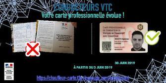 Carte Vtc 2019.Campagne De Securisation Des Cartes Professionnelles De