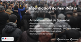 Interdiction de manifestation le samedi 11 mai 2019