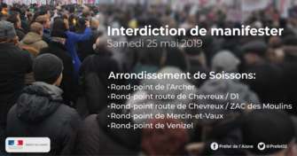 Interdiction de manifestation le samedi 25 mai 2019